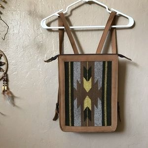 Mz fair trade mexico backpack leather